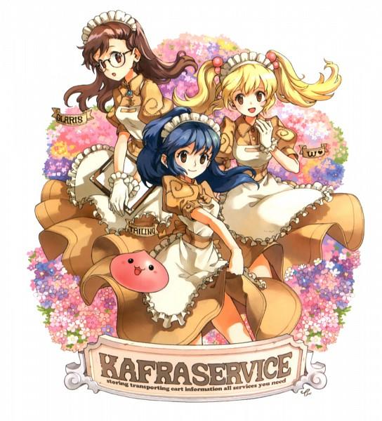 Tags: Anime, Tiv, Ragnarok Online: 5th Anniversary Memorial Book Artbook, RAGNARÖK ONLINE, Glaris, Kafra, W (Kafra), Poring, Tai Ling (Kafra)