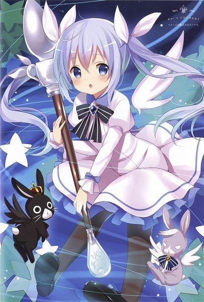 Tags: Anime, Koi (Koisan), Gochuumon wa Usagi Desu ka, Wild Geese (Gochuumon wa Usagi Desu ka?), Anko (Gochuumon wa Usagi Desu ka?), Kafuu Chino, Mobile Wallpaper, Official Art, Scan