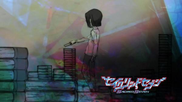 Tags: Anime, Sacred Seven, Kagami Makoto (Sacred Seven), Eyecatcher, Screenshot, Sacred Seven - Eyecatcher, Wallpaper