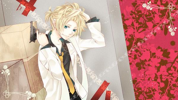 Tags: Anime, Himuxxx, VOCALOID, Kagamine Len, Pulling Hair, HD Wallpaper, Wallpaper, Facebook Cover, Len Kagamine
