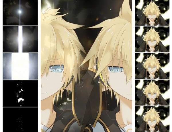 Tags: Anime, Shirotsugu, VOCALOID, Kagamine Len, Wallpaper, Len Kagamine