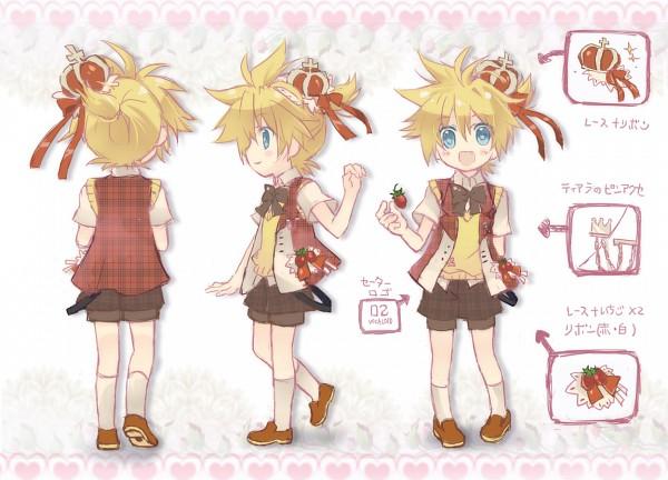 Tags: Anime, Gongitsune, VOCALOID, Kagamine Len, Character Sheet, Len Kagamine