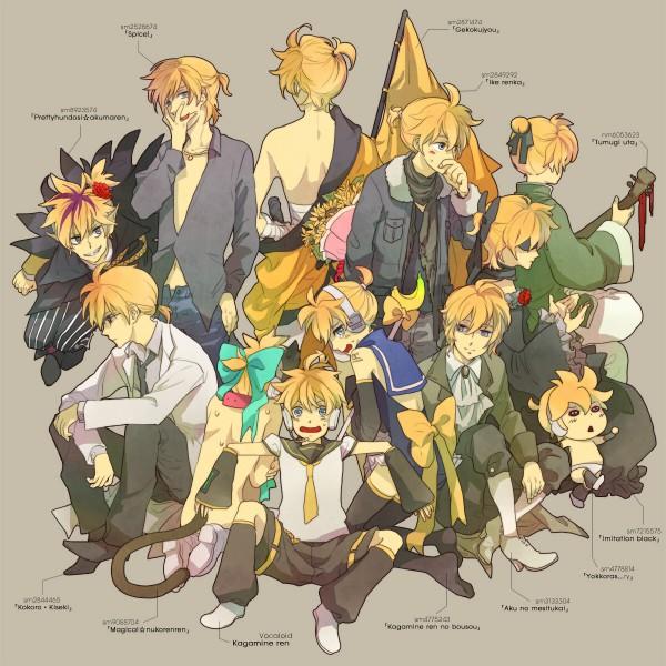 Tags: Anime, Nami / ナミ, VOCALOID, Kagamine Len, IMITATION BLACK, Owata-p, Kokoro, Pretty Fundoshi☆Akuma Len, Fanart, Song-Over, Pixiv, Tsumugi Uta, Spice!, Len Kagamine