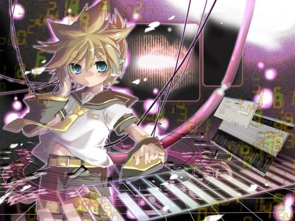 Tags: Anime, Hekicha, VOCALOID, Kagamine Len, Keyboard (Instrument), Len Kagamine