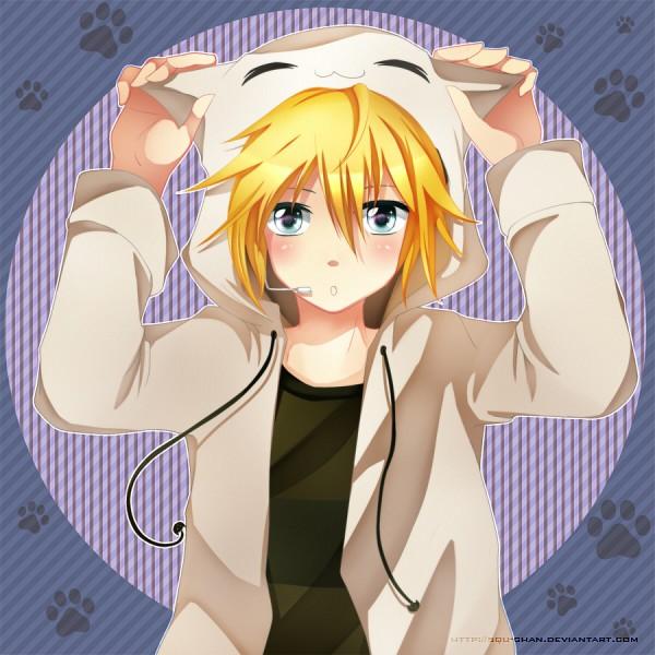 Tags: Anime, Squ-Chan, VOCALOID, Kagamine Len, Fanart, deviantART, Len Kagamine