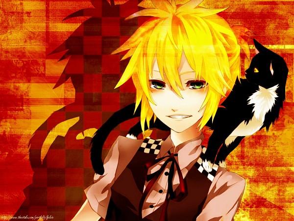 Tags: Anime, VOCALOID, Kagamine Len, Artist Request, Wallpaper, Len Kagamine