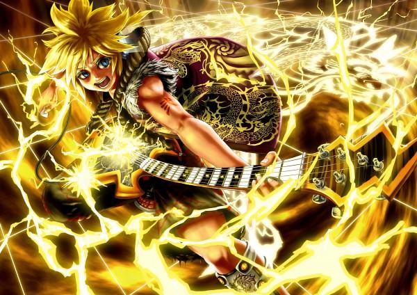 Tags: Anime, Pixiv Id 270053, VOCALOID, Kagamine Len, Electric Guitar, Pixiv, Len Kagamine