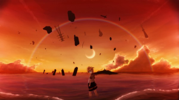 Tags: Anime, Hirobakar, VOCALOID, Kagamine Len, Desert, Pixiv, Wallpaper, HD Wallpaper, Len Kagamine