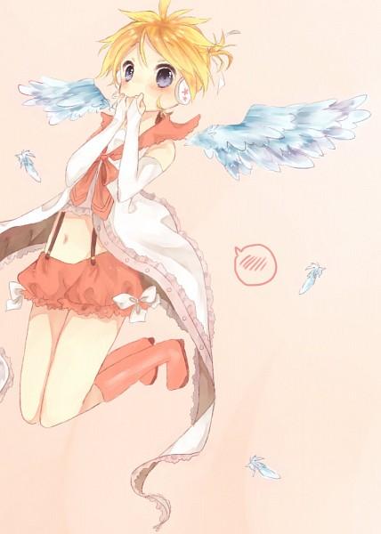 Tags: Anime, Nukoyuu, VOCALOID, Kagamine Len, Mobile Wallpaper, Len Kagamine