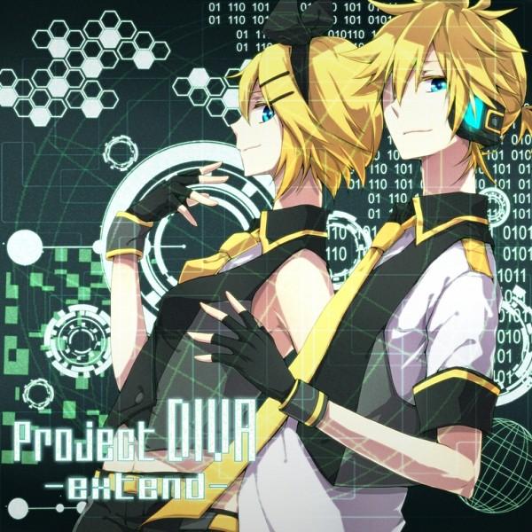 Tags: Anime, FukkinZ, Sega, Project DIVA Extend, VOCALOID, Kagamine Len, Kagamine Rin, Fanart, Pixiv, Fanart From Pixiv, Project DIVA Blue Moon, Project DIVA Black Star, Kagamine Mirrors