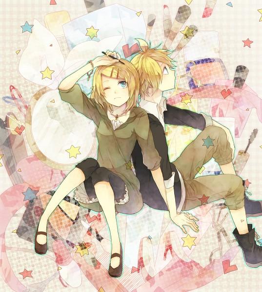 Tags: Anime, Hana / ハナ, VOCALOID, Kagamine Rin, Kagamine Len, Fanart From Pixiv, Fanart, Pixiv, Kagamine Mirrors