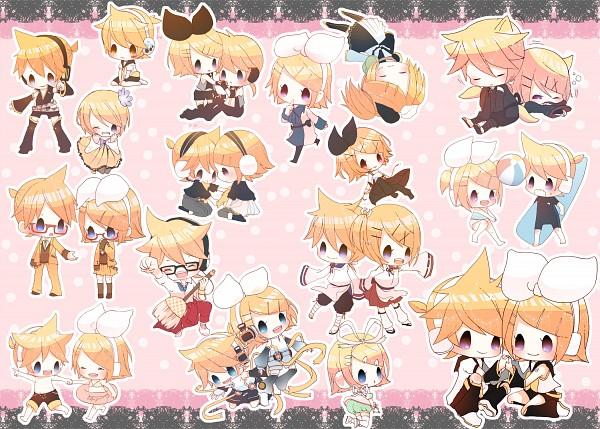 Tags: Anime, Miza-sore, Sega, Project DIVA Extend, Project DIVA 2nd, VOCALOID, Kagamine Len, Kagamine Rin, Jacket Around Waist, Asymmetrical Clothing, Project DIVA Asymmetry, Project DIVA School Jersey, Project DIVA Suou