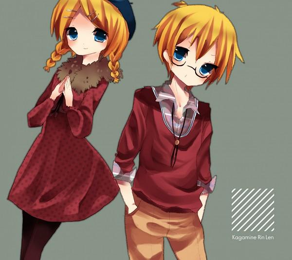 Tags: Anime, Pixiv Id 715293, VOCALOID, Kagamine Len, Kagamine Rin, Kagamine Mirrors