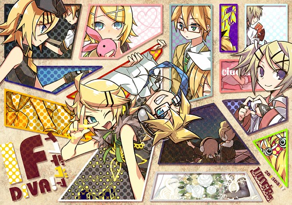 Tags: Anime, NEGI, Project DIVA Extend, Project DIVA F, Project DIVA 2nd, VOCALOID, Kagamine Len, Kagamine Rin, Asymmetrical Clothing, Jacket Around Waist, Pixiv, Project DIVA Asymmetry, Project DIVA Stylish Energy