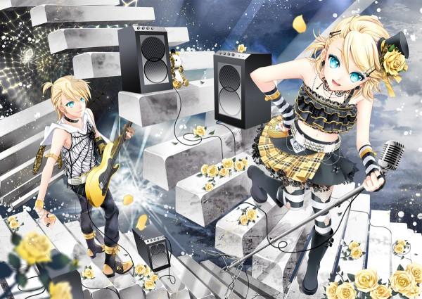 Tags: Anime, Cocoon (Artist), VOCALOID, Kagamine Len, Kagamine Rin, Spider Web, Kagamine Mirrors