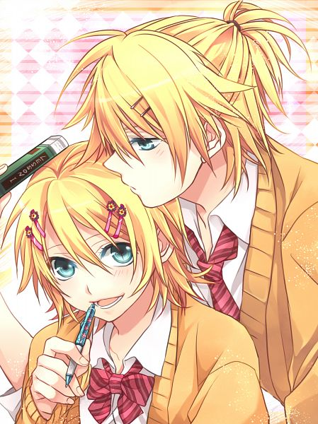 Tags: Anime, Teito, VOCALOID, Kagamine Len, Kagamine Rin, Fanart, Pixiv, Fanart From Pixiv, PNG Conversion, Kagamine Mirrors