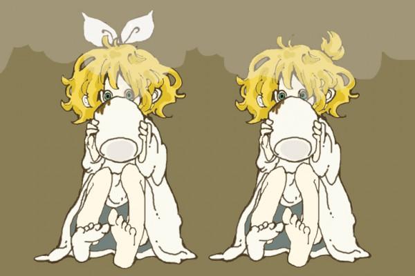 Tags: Anime, Pixiv Id 677560, VOCALOID, Kagamine Len, Kagamine Rin, Kagamine Mirrors