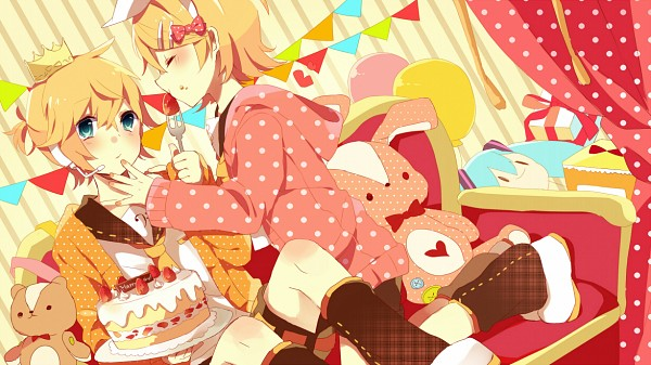 Tags: Anime, macozi, VOCALOID, Kagamine Len, Kagamine Rin, Facebook Cover, Kagamine Mirrors