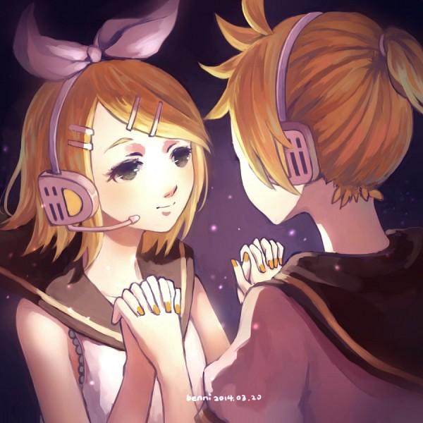 Tags: Anime, Pixiv Id 3672810, VOCALOID, Kagamine Len, Kagamine Rin, Orange Nails, Fanart, Pixiv, Fanart From Pixiv, Kagamine Mirrors