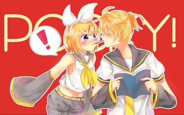 Tags: Anime, Pixiv Id 4338014, VOCALOID, Kagamine Len, Kagamine Rin, Pocky Game, Fanart From Pixiv, Fanart, Pixiv, Kagamine Mirrors