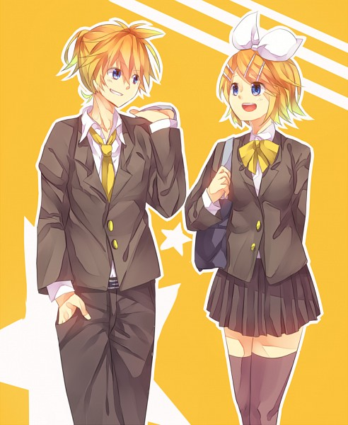 Tags: Anime, Pixiv Id 4338014, VOCALOID, Kagamine Len, Kagamine Rin, Fanart, Pixiv, Fanart From Pixiv, Kagamine Mirrors