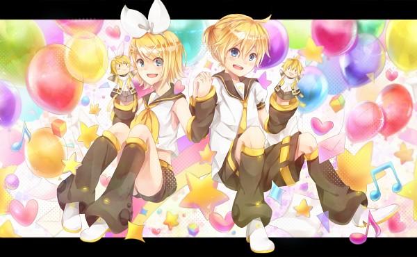 Tags: Anime, Pixiv Id 4338014, VOCALOID, Kagamine Len, Kagamine Rin, Pixiv, Fanart, Fanart From Pixiv, Wallpaper, Kagamine Mirrors