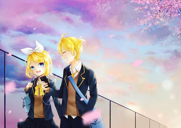 Tags: Anime, Pixiv Id 15702665, VOCALOID, Kagamine Len, Kagamine Rin, Kagamine Mirrors