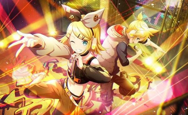 Tags: Anime, Project Sekai Colorful Stage! feat. Hatsune Miku, VOCALOID, Kagamine Len, Kagamine Rin, Official Card Illustration, Official Art, Kagamine Mirrors