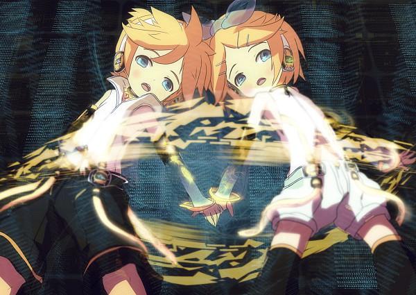 Tags: Anime, Itaru (Pixiv7894), VOCALOID, Kagamine Len, Kagamine Rin, Append, Kagamine Mirrors