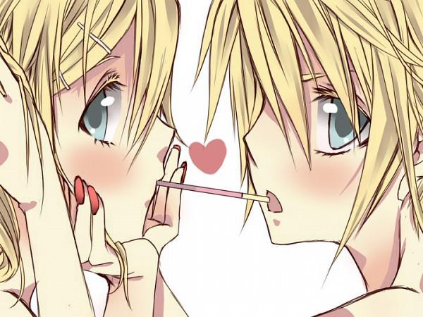 Tags: Anime, Hellokatty, VOCALOID, Kagamine Len, Kagamine Rin, Pocky Game, Kagamine Mirrors