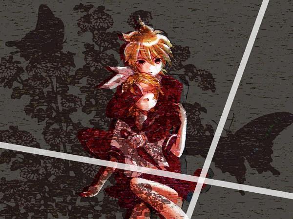 Tags: Anime, VOCALOID, Kagamine Rin, Kagamine Len, Blaze (Song), Piapro Illustrated, Kagamine Mirrors