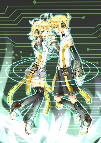 Tags: Anime, Pixiv Id 606903, VOCALOID, Kagamine Len, Kagamine Rin, Append, Pixiv, Kagamine Mirrors