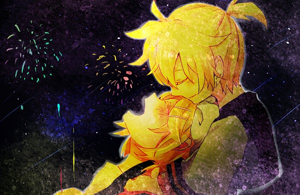 Tags: Anime, Yoyori, VOCALOID, Kagamine Rin, Kagamine Len, Fanart, Pixiv, Kagamine Mirrors