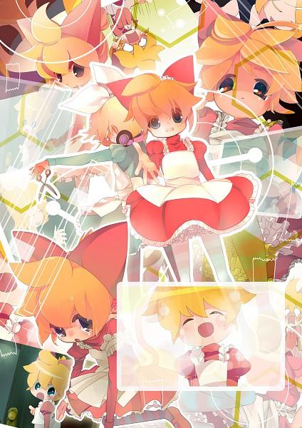 Tags: Anime, Hashimochi, VOCALOID, Kagamine Len, Kagamine Rin, Fanart, Pixiv, Kagamine Mirrors