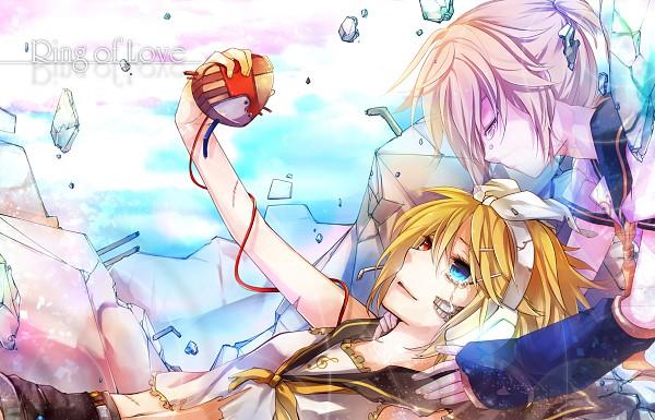 Tags: Anime, Mukkun, VOCALOID, Kagamine Len, Kagamine Rin, Destruction, Fanart, Pixiv, Kagamine Mirrors
