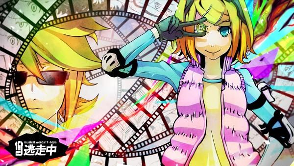 Tags: Anime, No.734, VOCALOID, Kagamine Rin, Kagamine Len, Coin, Filmstrip, Wallpaper, HD Wallpaper, Pixiv, Kagamine Mirrors