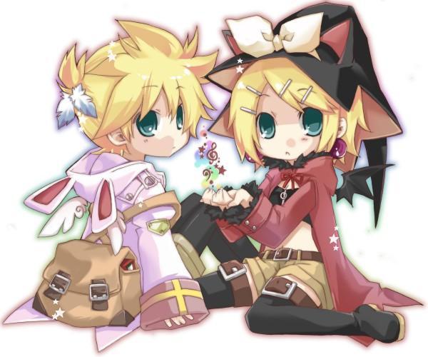 Tags: Anime, Hekicha, VOCALOID, Kagamine Rin, Kagamine Len, Kagamine Mirrors
