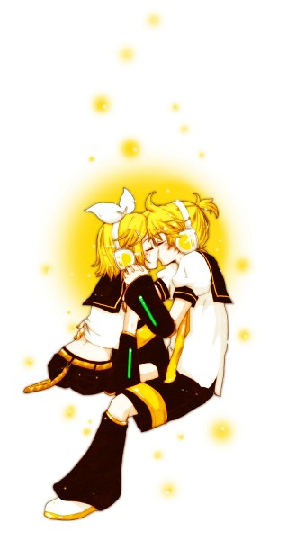 Tags: Anime, Pixiv Id 888977, VOCALOID, Kagamine Len, Kagamine Rin, Twincest, Mobile Wallpaper, Kagamine Mirrors