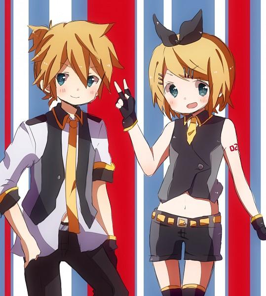Tags: Anime, Pixiv Id 1591107, Sega, Project DIVA Extend, VOCALOID, Kagamine Len, Kagamine Rin, Project DIVA Blue Moon, Fanart, Project DIVA Black Star, Pixiv, Kagamine Mirrors