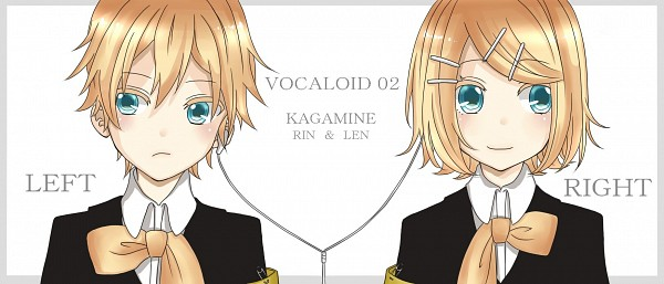 Tags: Anime, VOCALOID, Kagamine Len, Kagamine Rin, Symmetry, Fanart, Piapro Illustrated, Fanart From Piapro, Artist Request, Kagamine Mirrors