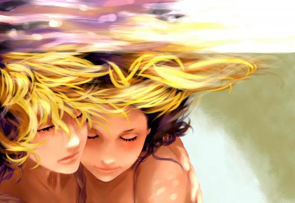 Tags: Anime, Moneynew, VOCALOID, Kagamine Len, Kagamine Rin, 1440x900 Wallpaper, Drown, Wallpaper, Kagamine Mirrors