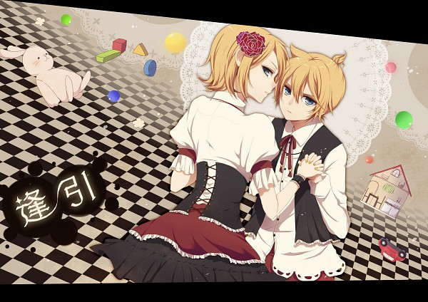 Tags: Anime, Chi Yu, VOCALOID, Kagamine Len, Kagamine Rin, Fanart, Pixiv, Kagamine Mirrors