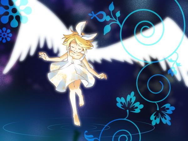 Tags: Anime, Junji (Greenjn3110), VOCALOID, Kagamine Rin, Wallpaper, Rin Kagamine
