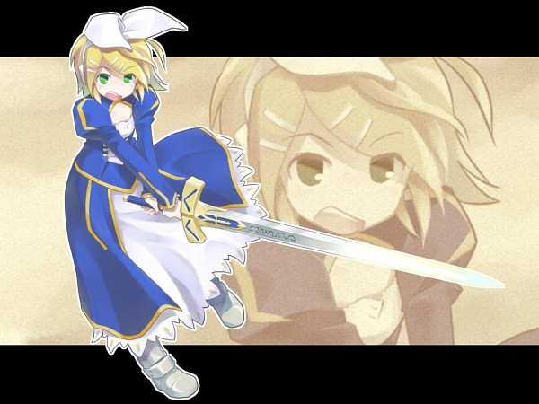 Tags: Anime, VOCALOID, Kagamine Rin, Saber (Fate/stay night) (Cosplay), Rin Kagamine