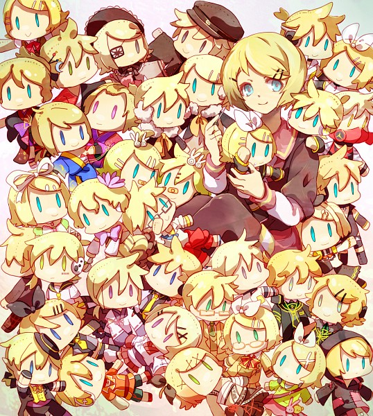 Tags: Anime, Sachirika, Project DIVA 2nd, Project DIVA Extend, Project DIVA F, VOCALOID, Kagamine Len, Kagamine Rin, Asymmetrical Clothing, Project DIVA Suou, Project DIVA Cute, Roshin Yuukai, Senbonzakura (Song), Rin Kagamine