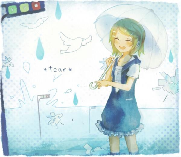 Tags: Anime, Saku, VOCALOID, Kagamine Rin, Traffic Light, *tear*, Pixiv, Rin Kagamine