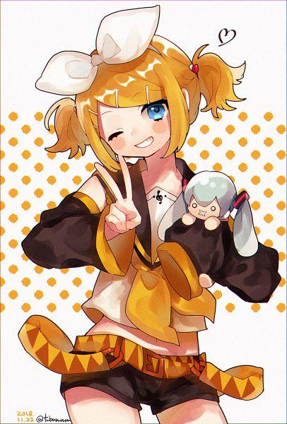 Tags: Anime, Tsubaki Tsubaru, VOCALOID, Hatsune Miku, Kagamine Rin, Fanart From Pixiv, Fanart, Pixiv, Rin Kagamine