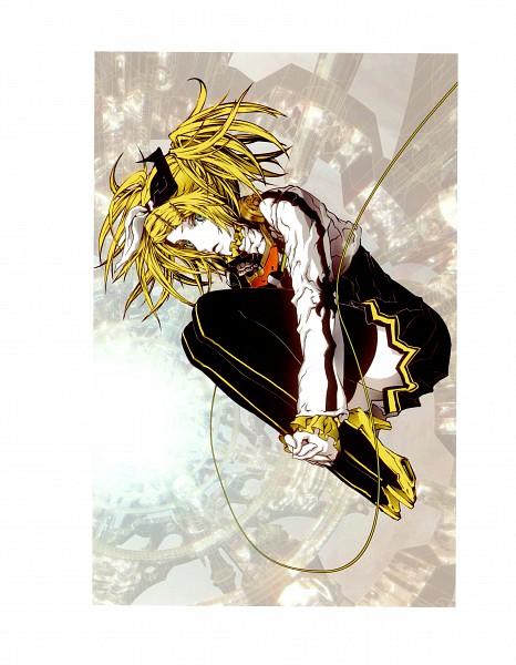 Tags: Anime, Nagimiso, Project DIVA 2nd, VOCALOID, Kagamine Rin, Fetal Position, Asymmetrical Clothing, Project DIVA Reactor, Roshin Yuukai, Rin Kagamine