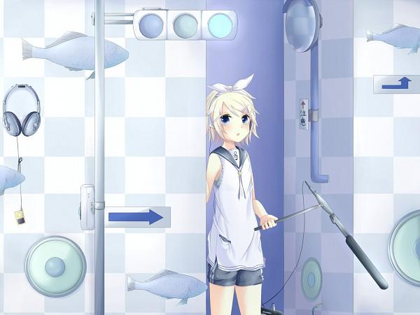 Tags: Anime, Sakakidani, VOCALOID, Kagamine Rin, Traffic Light, Pixiv, Rin Kagamine