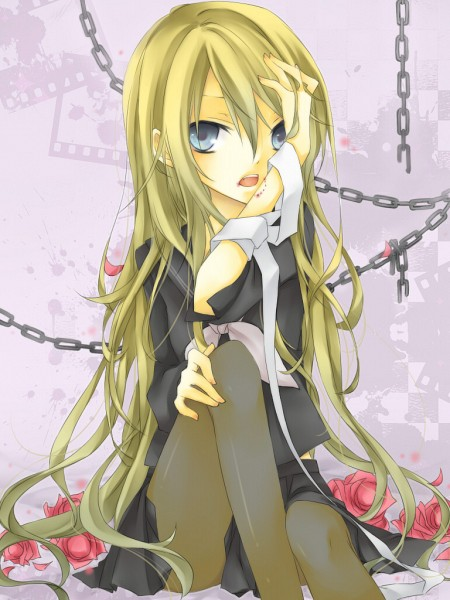 Tags: Anime, Li, VOCALOID, Kagamine Rin, Bite Marks, Pixiv, Fanart, Rin Kagamine